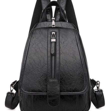 Γυναικεία τσάντα πλάτης LBAG-0002, μαύρη
